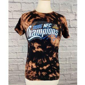 Carolina Panthers Custom Bleach Dye Tee Shirt